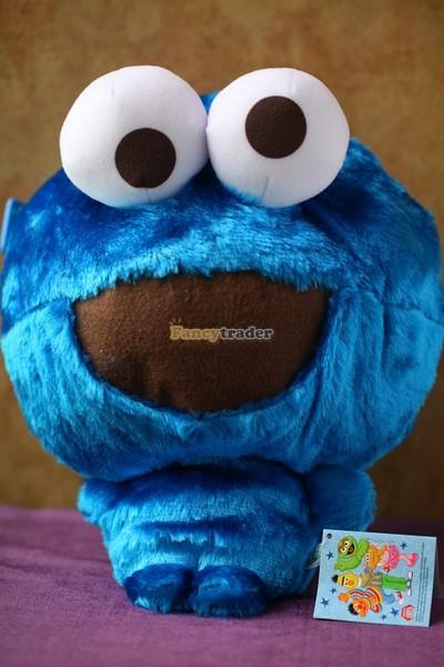 Fancytrader 15\'\' 36cm Copyrighted Plush Stuffed Cookie Monster Shoulder Bag, Free Shipping FT90380 (2)