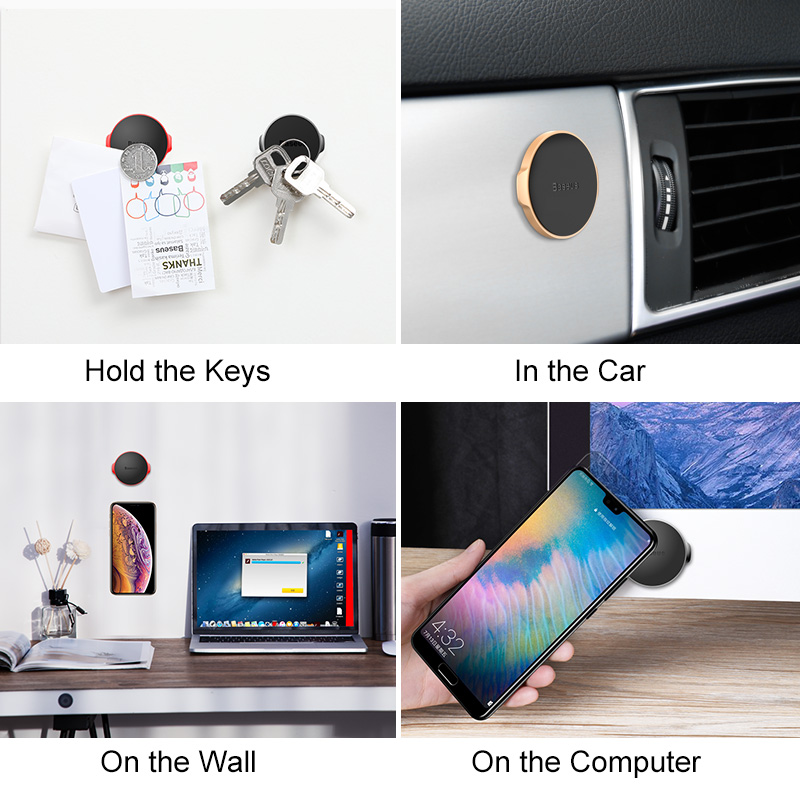 Image 5 - Baseus Univeral Magnetic Car Phone Holder Air Vent Mount Magnet Dashboard Car Holder Desk Wall Sticker Mobile Phone Holder Stand-in Phone Holders & Stands from Cellphones & Telecommunications