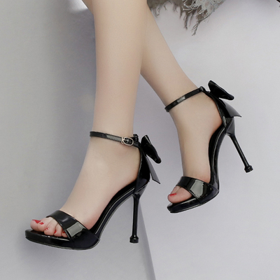 2019 summer <font><b>10</b></font> cm high heel women's shoes <font><b>sexy</b></font> fine with waterproof platform word belt image