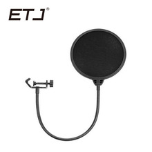 ETJ Brand Wind Screen Pop Filter Double Layer Studio Microphone Accessories Swivel Mount Mask Shied For Speaking Recording