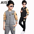 A15 Toddler Boy Clothing Set Children Clothes Set 2017 Spring Sport Suit Boy Outfit Kids Tracksuit Pants Top Age 8 10 12 14 Year
