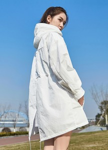 Image 5 - Xiaomi Uleemark długi biały trencz IPX5 wodoodporna odzież chroniąca przed słońcem modna bluza z kapturem wiatrówka