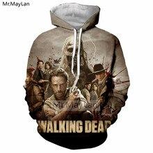 цена на American Horror TV The Walking Dead 3D Print Jacket Women/men Unisex Punk Streetwear Hoodies Boy Pullover Coat Outwear Outfits