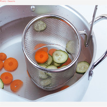Strainer Colander Scoop 304 stainless steel drain oil Spicy Hot Pot juice residue sift noodle soybean milk filter Kitchen Sieve