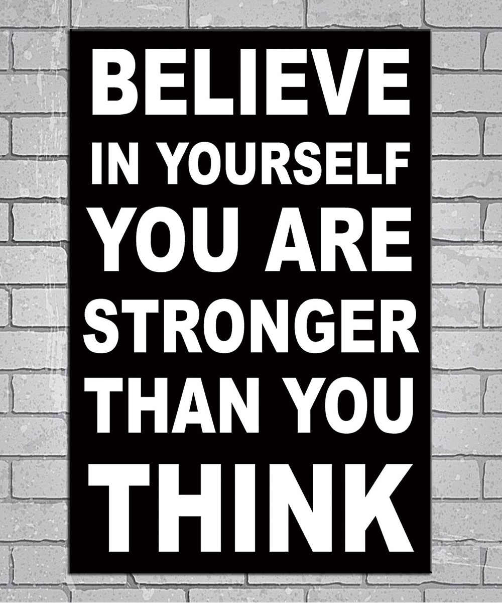 Motivational Inspirational Success Gym Quotes Light Canvas Custom Poster 24x36 27x40 Inch Home Decor N419