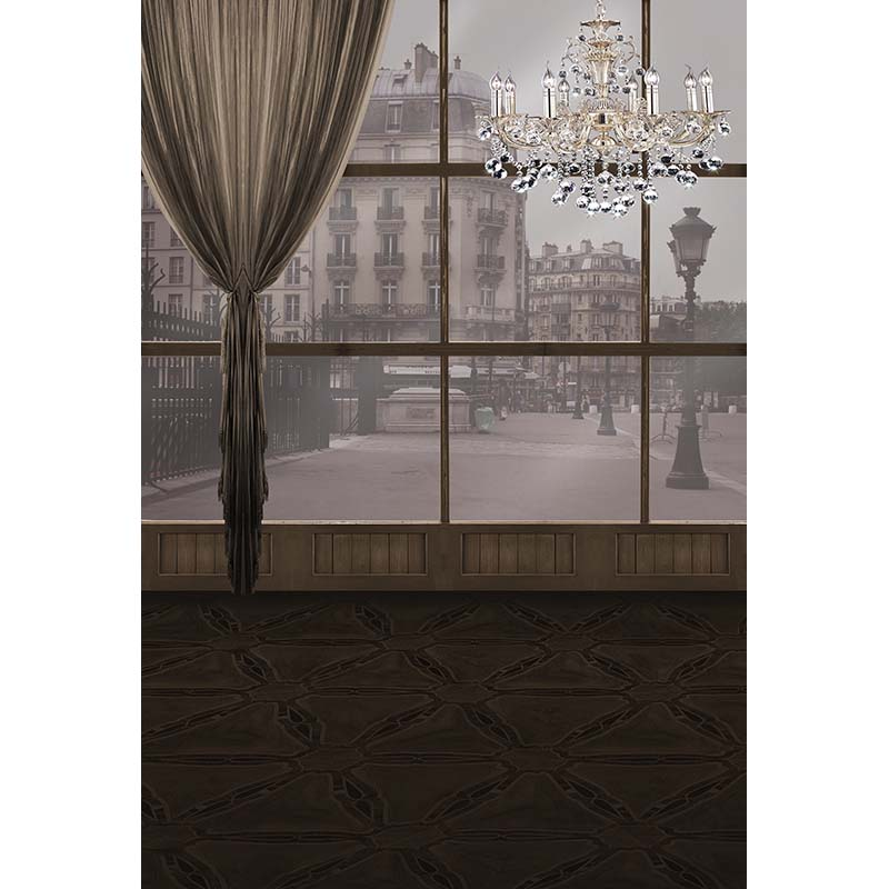 Customize vinyl cloth print 3 D Russia scenery window photography backdrops for wedding photo studio backgrounds props CM-3350