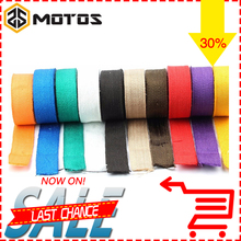 ZS MOTOS Thermal Exhaust Header Pipe Tape Heat Insulating Wrap Fireproof Cloth Roll With Durable Steel Ties Kit 5M/10M/15M