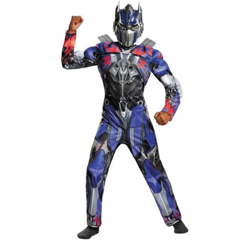 Superhero forme des Autobots pour enfants Formers Optimus Prime Bumblebee enfants Cosplay Costume combinaisons (combinaisons + masque)