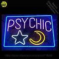Экстрасенсорная неоновая вывеска со звездой и Луной ручной работы  неоновые трубки из настоящего стекла  винтажные лампы для отдыха  знаков...