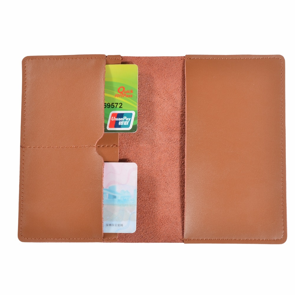 Men's Genuine Leather Credit Card Passport Holder Cover On The Passport Case Cardholder For Women's Cards Documents