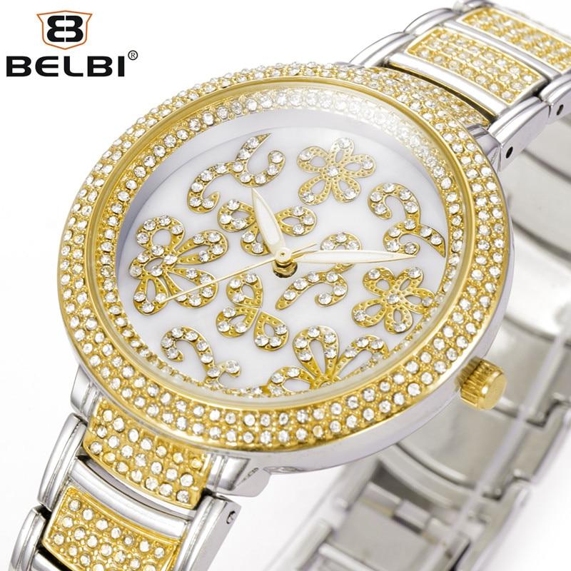 BELBI New Trendy Brand Luxury Watch Women Watch Women Casual Mesh Band Quartz Watch Analog Lady Woman Wristwatch Bayan Saatleri astina 0476 women s stylish analog quartz wristwatch w pu band white coffee 1 x 626