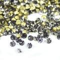 Diamante negro ~ 1440 unids/bolsa ss3 ~ pointback rhinestones ss19 Ronda flojo Cristalino, Cristal del pegamento de uñas de arte