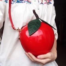 SJ mujeres bolsos de hombro de cuero bolso de mensajero de mujer Italia Braccialini Diseño de Arte de dibujos animados Mini fruta paquete manzana naranjas