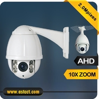 Promotion AHD PTZ Camera Security 1080P Mini Camera Outdoor 10X Optical Zoom IR High Speed Dome