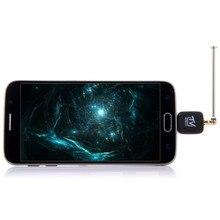 Mini micro usb dvb-t sintonizador de tv receptor dongle/antena dvb t HD TV Digital Móvil Receptor de Satélite HDTV para el Teléfono Android DVBT