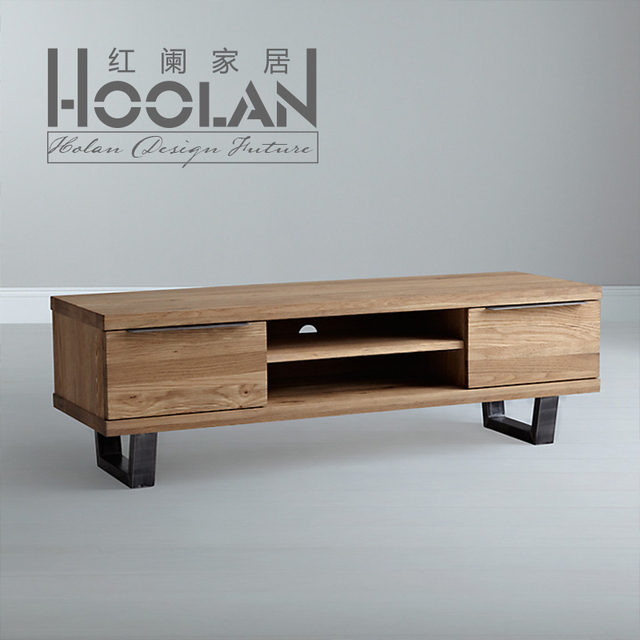 Madera de hierro mueble tv minimalista moderna mesa de - Mesas tv ikea ...