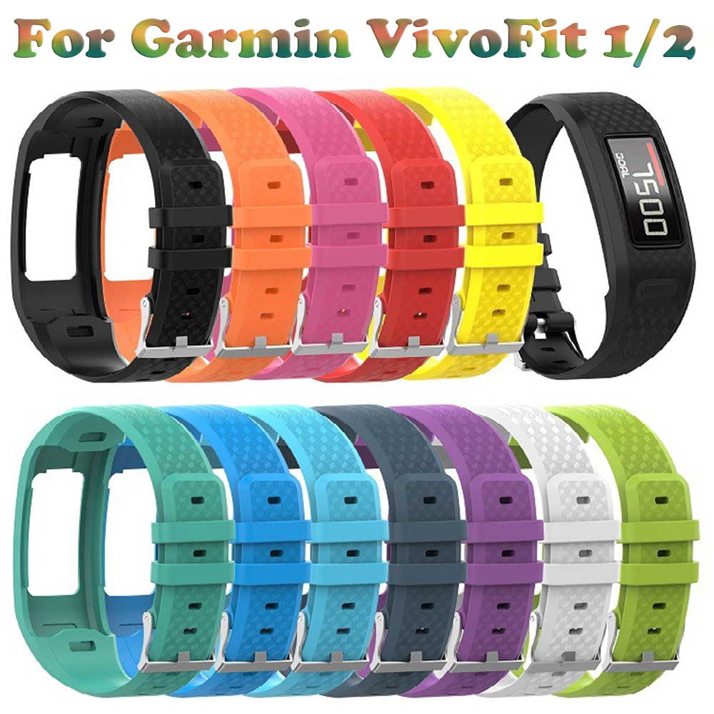 Replace Silicone Sport Smart Watch Band Strap Bracelet For Garmin Vivofit 1 Vivofit 2 Watchband Replacement Watch Colorful Wrist