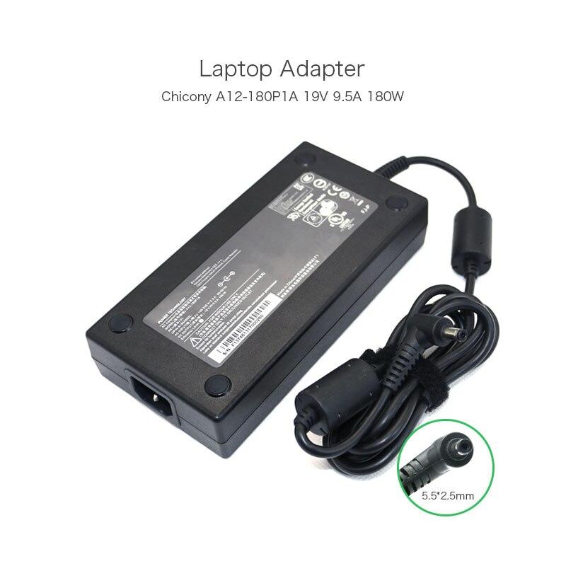 Venda quente Chicony 19 V 9.5A 180 W 5.5*2.5 milímetros Adaptador AC Do Laptop para MSI GT60 A180A002L A12-180P1A GT70 Computador fonte de Alimentação