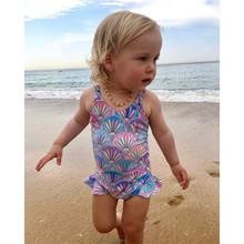 AUSTINBEM 2019 New Children Kids Girls Bikini Beach One Piece Print Straps Swimwear Swimsuit Summer Cute Kid Costumes Bikini