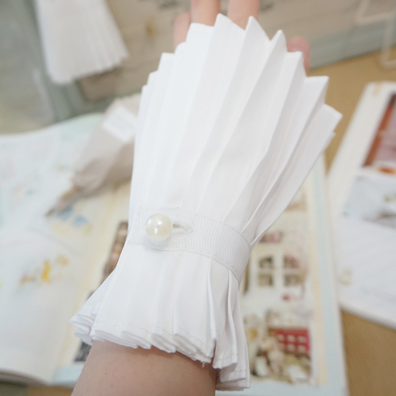 Apparel Warmers Fake Original Handmade False New Fairy Temperament Lace Organ Floral Horn Original Palace Wind Pleated White