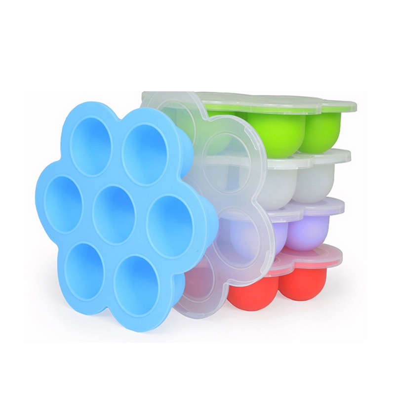 Covered Ice Ball Mold Silicone Ice Cube Trays With Lid