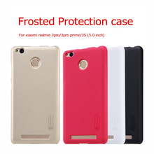 Shockproof PC Phone case for Xiaomi Redmi 3 pro prime 3s 5.0 Fashion Nillkin Brand Frosted Hard Phone Cover Case for xiaomi 3S