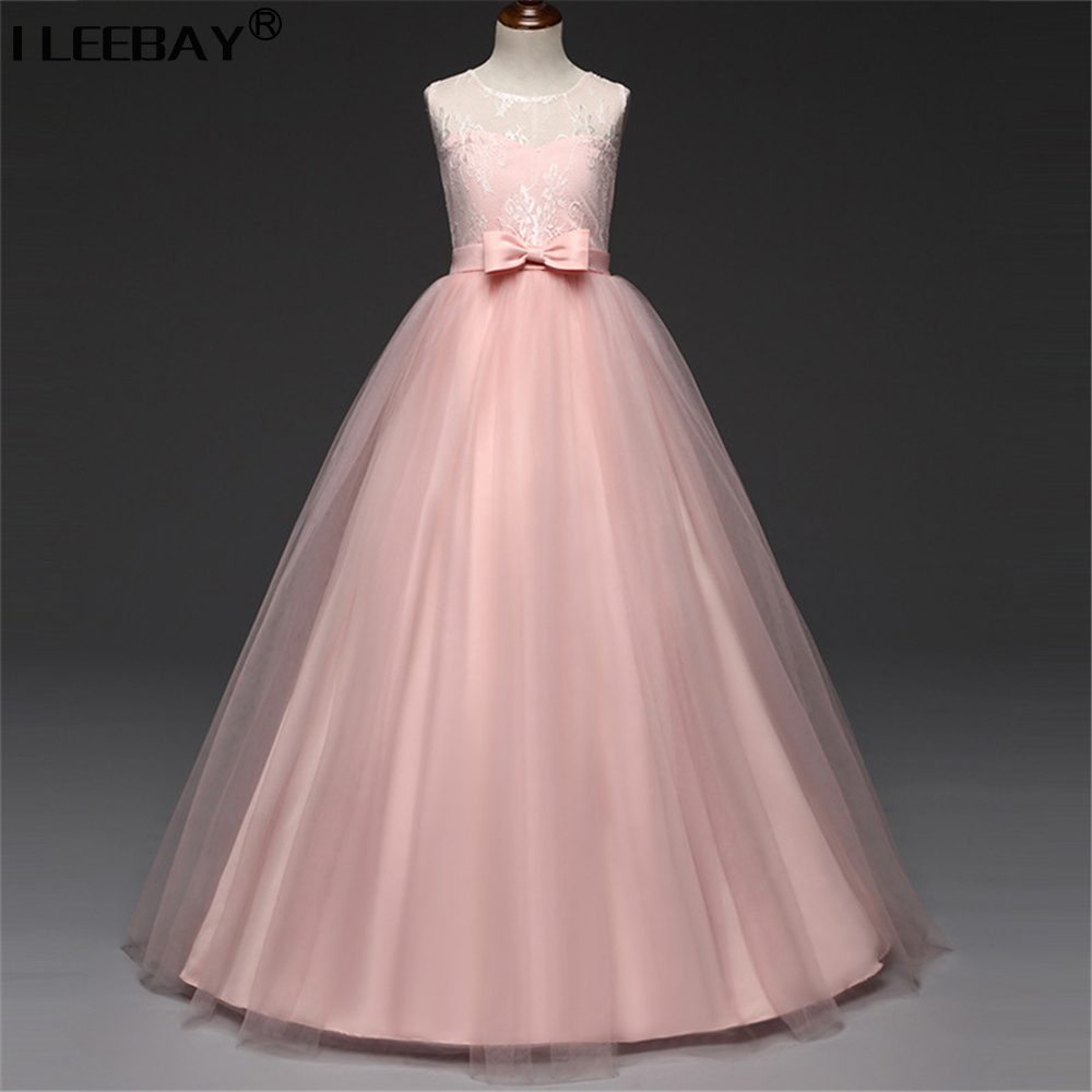 Girls Bridesmaid Ceremonies Girl Wedding Vestido Big Girl Princess ...