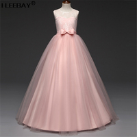 Girls Bridesmaid Ceremonies Girl Wedding Vestido Big Girl Princess Party Clothes Flower Tutu Dress Fancy Girl