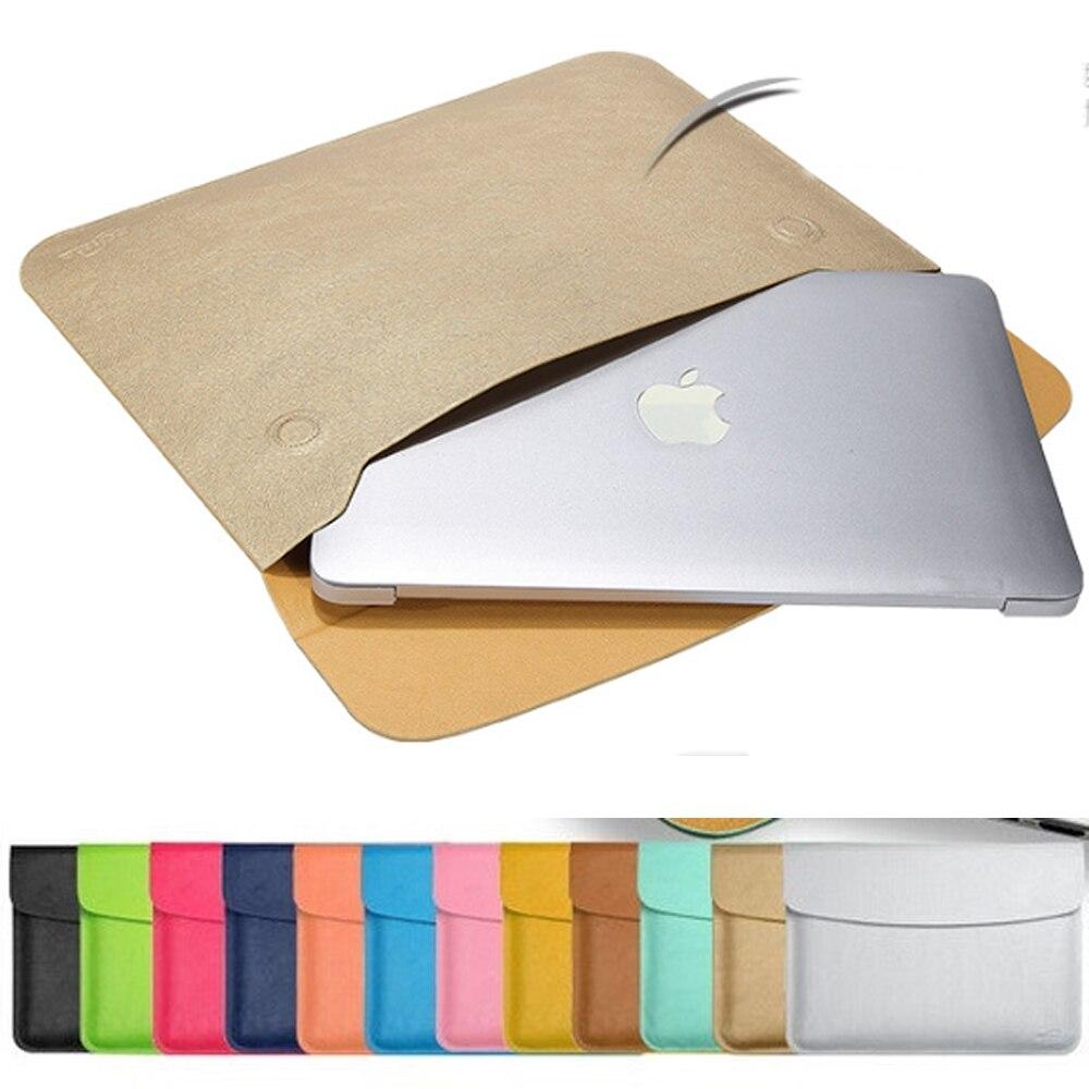 hot fashion leather laptop sleeve case for apple macbook. Black Bedroom Furniture Sets. Home Design Ideas