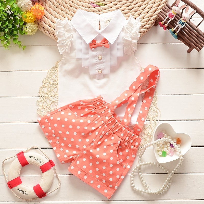 2015-summer-baby-girls-newyear-Christmas-outfit-clothing-sets-chiffon-plaid-t-shirt-overalls-pant-baby (3)