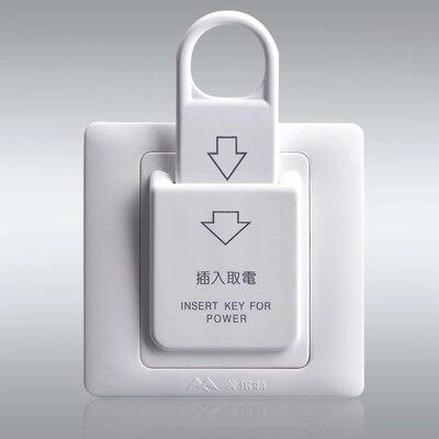 10PCS Exit button 86x86 hotel key key card switch slide swich push button exit access control