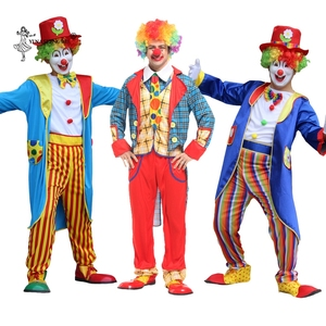 Halloween Adult Clown Costume Cosplay Naughty Harlequin Fancy Fantasia Infantil Party Carnival 27 Colors Stage Cosplay Clothing(China)