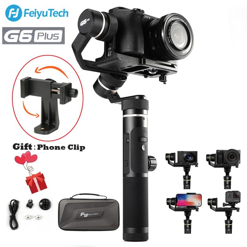 Feiyutech Feiyu G6 Plus 3-Axe Brushless Cardan Stabilisateur De Poche pour appareil Photo Sans miroir de Poche Caméra GoPro Sony Smartphones