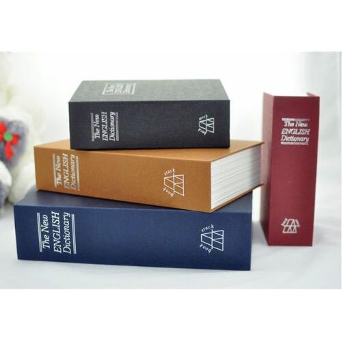 2016 Nový velmi velký slovník Tajná kniha Money Skrytá tajná bezpečnost Bezpečné Lock Cash Money Šperky skříňka Box 26,5x20x6,5cm