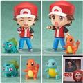 2017 Nendoroid Ash Ketchum Pikachu Charmander Bulbasaur PVC Figures Toy Cartoon Anime Action Figures Model Toy Kids Gift