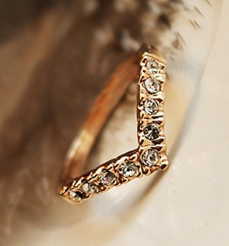 Lover Hot Sell Elegant Gold Color Wedding Ring Made with Genuine Austrian Crystals Full Sizes Wholesales 1