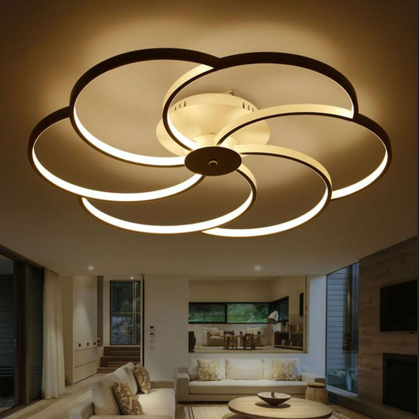 li para control room modern gleam ceiling fan lights light ceilings remote rectangle led bedroom living