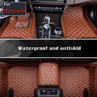 2018 1set Car Interior Front Rear Floor Mats Carpet Floor Liner For Hyundai Veracruz Matrix Equus