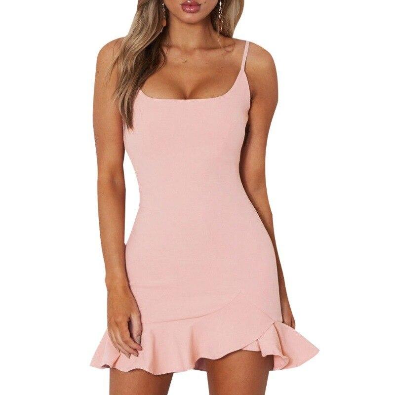 women dress sexy sleeveless solid clothing hot female dresses 276#
