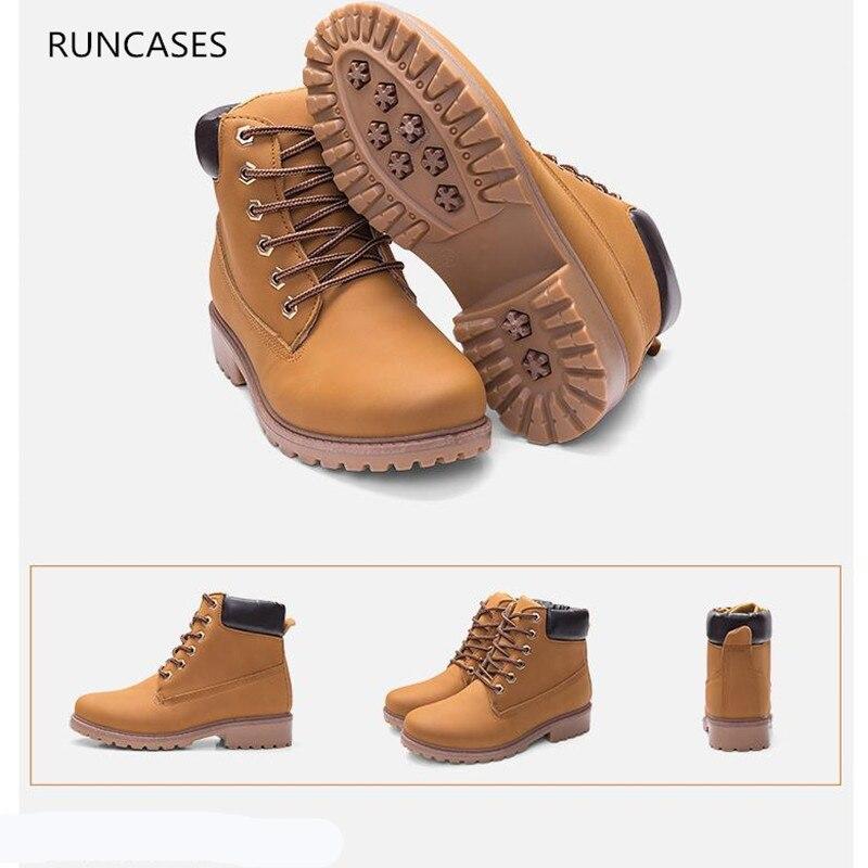 Couple models Martin boots mens PU womens big shoes rhubarb short boots2018
