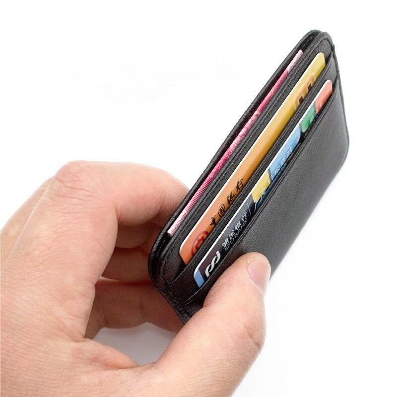 Gibo Auja-Super Sottile Morbido 100% Pelle di Pecora Genuino Titolare della carta Cassa di carta del Supporto Della Carta di Credito Organizer Mini Uomini portafogli
