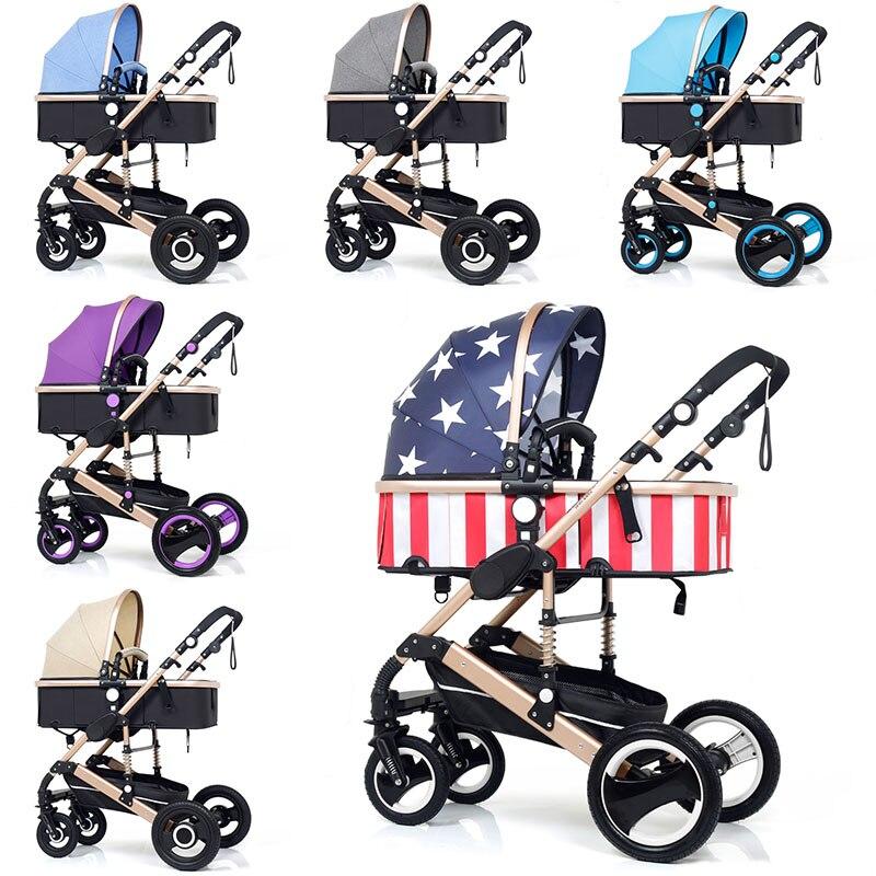 Multifuncional 3 en 1 cochecito de bebé de paisaje cochecito plegable carro bebé cochecito recién nacido - 6