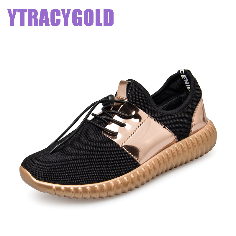 2017 Couple Superlight Glossy Gold Women Casual Shoes Summer Fashion Breathable Durable Outdoor Lace-up Footwear sapatos casuais fashion designer famous brand air mesh glossy men casual shoes summer outdoor breathable durable lace up unisex fashion shoes