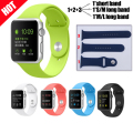 15 Colors NEW SET Smart Watch Replacement Strap Silicone Sport  Watchband with Connector in Silicone Strap for Apple Watch