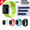 15 cores novo conjunto relógio inteligente substituição alça de silicone esporte pulseira com conector em alça de silicone para a apple watch
