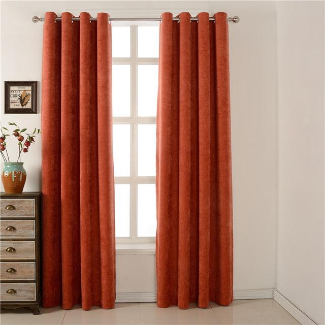 Solid Diepe Oranje Gordijnen Voor Woonkamer Deur Panel Room ...