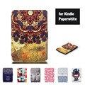 Для Amazon Kindle Paperwhite 1 2 3 Case Тонкий Защитный Shell Кожа Цветок Обложка Для Amazon Kindle Paperwhite Case Бесплатная подарок