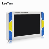 4x 32x 5.0 Screen Portable Electronic Magnifier Reading Digital Magnifier Aid for Low Vision with Multiple Color Modes
