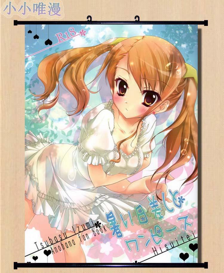 Japanese Anime Hot Japan Anime Anohana Honma Meiko Yadomi Jinta Poster Home Decor Wall Scroll Other Anime Collectibles