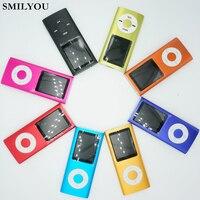 SMILYOU 뜨거운 판매 슬림 MP3 MP4 음악 플레이어 1.8 인치 LCD 4 기가바이트 메모리 화면 FM 라디오 비디오 플레이어 9 색 사용